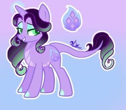 Size: 1126x984   Tagged: safe, artist:daydreamsunset23, oc, oc:clear flame, dracony, hybrid, cutie mark, eyeshadow, gradient background, grin, horn, interspecies offspring, lidded eyes, makeup, offspring, parent:rarity, parent:spike, parents:sparity, smiling, solo