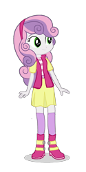 Size: 960x1920   Tagged: safe, artist:eqgcmc, derpibooru exclusive, edit, part of a set, vector edit, sweetie belle, equestria girls, boots, classy, clothes, cute, diasweetes, dress, female, high heel boots, leggings, shoes, simple background, socks, solo, transparent background, vector