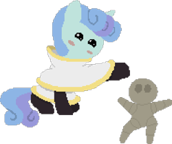 Size: 736x616 | Tagged: safe, artist:minus, derpibooru exclusive, oc, oc only, oc:johnathan, oc:rocky (colt quest), golem, pony, unicorn, colt quest, blushing, clothes, colt, foal, horn, latex, latex socks, male, pixel art, robe, simple background, socks, starry eyes, swirly mane, tail, transparent background, two toned mane, two toned tail, unicorn oc, wingding eyes