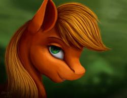 Size: 1024x792 | Tagged: safe, artist:allforyouart, applejack, earth pony, pony, bust, female, portrait, profile, solo