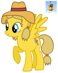 Size: 1128x1426 | Tagged: safe, pegasus, pony, female, hat, lunar lander, ponified, the space place