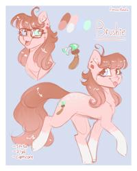 Size: 1200x1500 | Tagged: safe, artist:fanaticpanda, oc, oc:pastel brush, earth pony, glasses