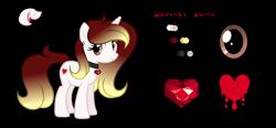 Size: 2300x1067 | Tagged: safe, artist:darbypop1, oc, oc:destiny blood, pony, unicorn, female, mare, simple background, solo, transparent background