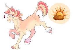 Size: 2200x1500 | Tagged: safe, artist:uunicornicc, oc, pony, unicorn, cloven hooves, magical lesbian spawn, male, offspring, parent:sunset shimmer, parent:twilight sparkle, parents:sunsetsparkle, simple background, solo, stallion, white background