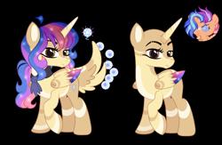 Size: 2785x1817 | Tagged: safe, artist:xxcheerupxxx, oc, oc:reyla, alicorn, pony, bald, female, mare, simple background, solo, transparent background