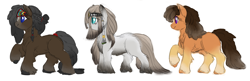 Size: 4087x1321 | Tagged: safe, artist:snspony, oc, oc only, oc:warm spring, pony, yakutian horse, female, mare, simple background, snow mare, white background
