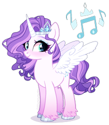 Size: 900x1030 | Tagged: safe, artist:gihhbloonde, oc, alicorn, pony, magical lesbian spawn, offspring, parent:pipp petals, parent:rarity, simple background, solo, transparent background