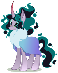 Size: 1280x1610 | Tagged: safe, artist:venomous-cookietwt, oc, pony, unicorn, female, mare, offspring, parent:king sombra, parent:mistmane, simple background, solo, transparent background