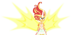 Size: 15114x7462 | Tagged: safe, artist:andoanimalia, sunset shimmer, equestria girls, friendship games, daydream shimmer, simple background, transparent background, vector, wings