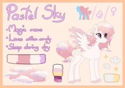 Size: 1280x904   Tagged: safe, artist:lambydwight, oc, oc:pastel sky, pegasus, pony, female, pegasus oc, reference sheet, solo