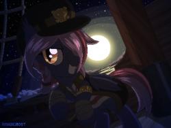 Size: 800x600 | Tagged: safe, artist:rangelost, oc, oc only, oc:moonflower, bat pony, pony, bat pony oc, solo