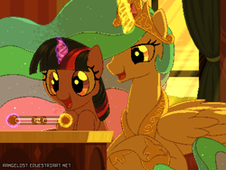 Size: 800x600 | Tagged: safe, artist:rangelost, princess celestia, twilight sparkle, alicorn, pony, unicorn