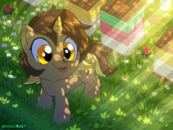 Size: 800x600 | Tagged: safe, artist:rangelost, oc, oc only, oc:honeydipper, pony, unicorn, solo