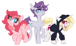 Size: 3400x2097 | Tagged: safe, artist:nekosnicker, oc, oc only, earth pony, pegasus, pony, unicorn