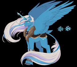 Size: 3300x2847 | Tagged: safe, artist:t3ssrina, snowflake (g3), alicorn, pony, alicornified, race swap, solo