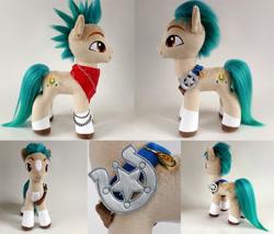 Size: 1000x852   Tagged: safe, artist:larsen toys, hitch trailblazer, oc, earth pony, pony, g5, adoptable, forsale, photo, plushie, solo, toy
