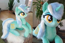 Size: 5832x3848   Tagged: safe, artist:epicrainbowcrafts, lyra heartstrings, pony, absurd resolution, irl, photo, plushie, solo