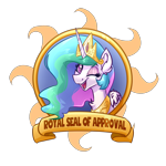 Size: 5000x5000 | Tagged: safe, artist:witchtaunter, princess celestia, alicorn, pony, badge, bust, commission, crown, jewelry, looking at you, one eye closed, regalia, simple background, smiling, smiling at you, solo, transparent background, wink