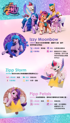 Size: 684x1200   Tagged: safe, izzy moonbow, pipp petals, zipp storm, g5, chinese
