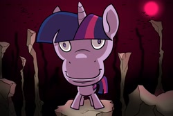 Size: 3000x2000 | Tagged: safe, artist:swagstapiece, twilight sparkle, pony, unicorn, female, looking at you, mare, not salmon, solo, staring into your soul, unicorn twilight, wat