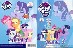 Size: 2107x1387 | Tagged: safe, applejack, fluttershy, pinkie pie, rainbow dash, rarity, spike, twilight sparkle, alicorn, season 5, chgb record, dvd, twilight sparkle (alicorn)