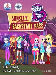 Size: 1000x1333 | Tagged: safe, applejack, fluttershy, pinkie pie, rainbow dash, rarity, sunset shimmer, twilight sparkle, equestria girls, equestria girls series, sunset's backstage pass!, spoiler:eqg series (season 2), chgb record, dvd