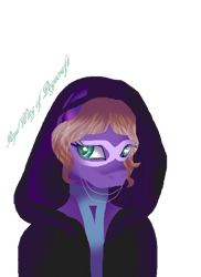 Size: 1696x2336 | Tagged: safe, artist:aonairfaol, oc, oc only, earth pony, anthro, bust, earth pony oc, eyelashes, female, hood, signature, simple background, solo, transparent background