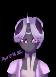 Size: 1696x2328 | Tagged: safe, artist:aonairfaol, oc, oc only, unicorn, anthro, bust, clothes, eyelashes, female, horn, signature, simple background, smiling, transparent background, unicorn oc