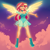 Size: 2000x2000   Tagged: safe, artist:xjenn9, sunset shimmer, series:my past is not today, equestria girls, boots, clothes, high heel boots, redesign, see-through, see-through skirt, shoes, skirt, solo, sunset phoenix, winged humanization, wings