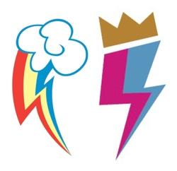 Size: 666x646 | Tagged: safe, rainbow dash, zipp storm, g5, cutie mark, no pony, rainbow dash's cutie mark, simple background, white background