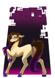 Size: 3508x4961   Tagged: safe, artist:oneiria-fylakas, oc, oc:dragon heart, earth pony, female, glasses, mare, solo
