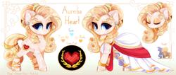 Size: 4725x2000 | Tagged: safe, artist:xsatanielx, oc, oc:aurelia heart, pony, unicorn, reference