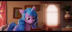 Size: 2400x1080 | Tagged: safe, screencap, izzy moonbow, pony, unicorn, g5, my little pony: a new generation, female, mare, solo