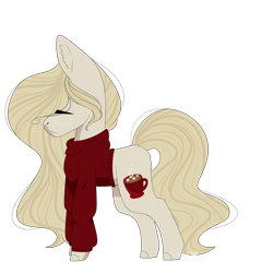 Size: 1500x1500   Tagged: safe, artist:yuumirou, oc, oc:coco, earth pony, pony, clothes, female, mare, simple background, solo, sweater, transparent background