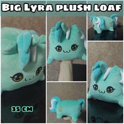 Size: 3464x3464 | Tagged: safe, artist:kuroran, lyra heartstrings, original species, plush pony, advertisement, lyra plushie, plushie