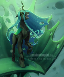 Size: 2500x3000   Tagged: safe, artist:jessicanyuchi, queen chrysalis, changeling, changeling queen, friendship is magic, digital painting, fanart, female, solo