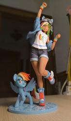 Size: 706x1200   Tagged: safe, artist:sepiakeys, kotobukiya, rainbow dash, pony, equestria girls, figurine, human ponidox, irl, kotobukiya rainbow dash, photo, self ponidox