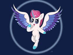 Size: 2880x2160   Tagged: safe, artist:limitmj, fluttershy, zipp storm, fly, insect, pegasus, g5, blushing, colored wings, looking at you, open mouth, solo, wings