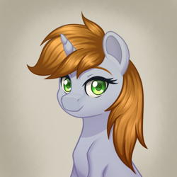 Size: 2000x2000   Tagged: safe, artist:mirrorcrescent, oc, oc only, oc:littlepip, pony, fallout equestria, bust, female, solo