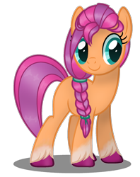 Size: 1244x1568   Tagged: safe, artist:amicasecretuwu, sunny starscout, pony, g5, g5 to g4, simple background, solo, transparent background