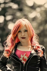 Size: 640x960 | Tagged: safe, artist:littlemissbloo, sunset shimmer, human, clothes, cosplay, costume, irl, irl human, photo