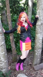 Size: 540x960 | Tagged: safe, artist:littlemissbloo, sunset shimmer, human, clothes, cosplay, costume, irl, irl human, photo