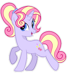 Size: 1168x1234   Tagged: safe, artist:sunlightshimmer64, oc, oc:sweet candy, pony, unicorn, base used, offspring, outline, parent:party favor, parent:pinkie pie, parents:partypie, simple background, solo, transparent background