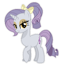 Size: 1238x1326   Tagged: safe, artist:sunlightshimmer64, oc, oc:melody, pony, unicorn, base used, offspring, outline, parent:hoity toity, parent:rarity, parents:raritoity, solo