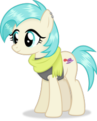 Size: 2999x3740   Tagged: safe, artist:anime-equestria, coco pommel, earth pony, pony, alternate hairstyle, clothes, female, simple background, solo, transparent background
