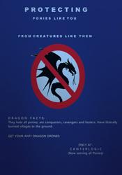 Size: 420x600   Tagged: artist needed, safe, dragon, g5, canter logic, no pony, propaganda
