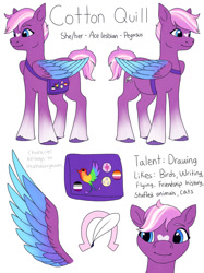 Size: 1024x1366 | Tagged: safe, artist:incendiaryboobs, oc, oc:cotton quill, pegasus, pony, g5, my little pony: a new generation, a new generation, ponysona