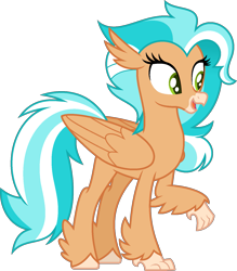 Size: 1355x1550 | Tagged: safe, artist:pegasski, oc, oc:tidal rush, classical hippogriff, hippogriff, female, simple background, solo, transparent background