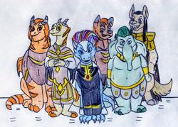 Size: 1280x919 | Tagged: safe, diamond dog, dragon, grootslang, hybrid, longma, g5, armor, fanart