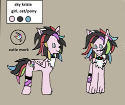 Size: 1083x906   Tagged: safe, oc, cat, cat pony, original species, pegasus, pony, ask-ponys-gamer-club, tumblr